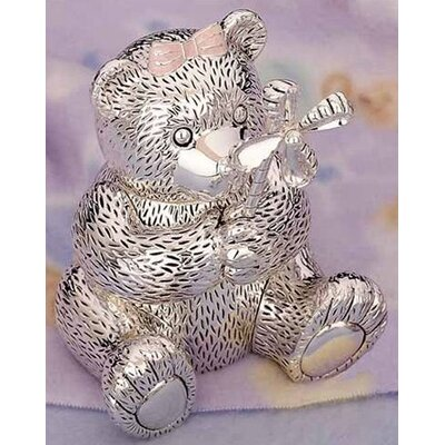 "Reed & Barton Children's Giftware 5.13"" Girl Bear with Pinwheel Bank"