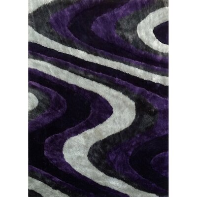 Living Shag Purple/Gray Rug