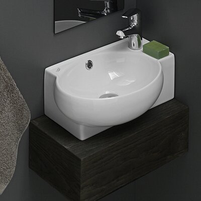 Mini Corner Ceramic Bathroom Sink - CeraStyle 001300-U