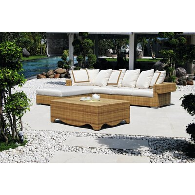 Dann Foley Hollywood 3 Piece Deep Seating Group with Cushions