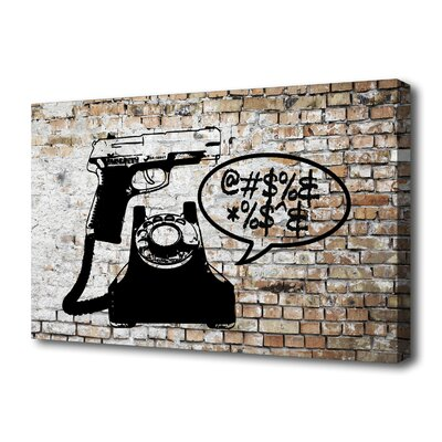 """Th-Ink Art """"Last Call"""" Graphic Art on Canvas"""