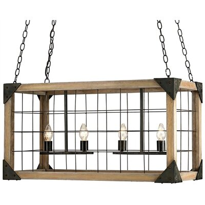 Currey & Company Eufaula 4 Light Chandelier