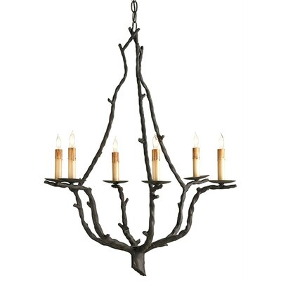 Currey & Company Soothsayer 6 Light Candle Chandelier