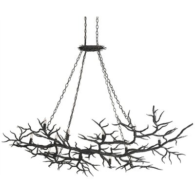 Currey & Company Rainforest 14 Light Candle Chandelier