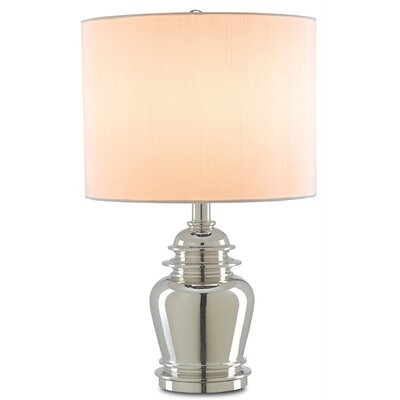 "Currey & Company Gaffney 20"" H Table Lamp with Drum Shade"
