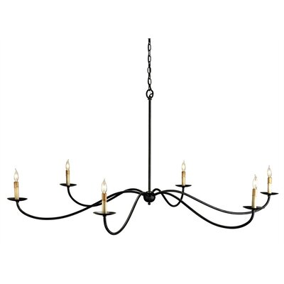 Currey & Company Saxon 6 Light Candle Chandelier