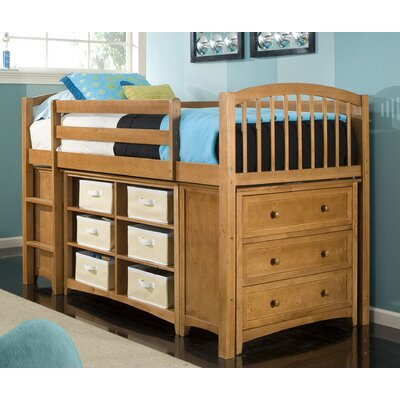 NE Kids School House Junior Twin Loft Storage Bed