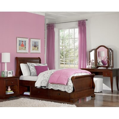 NE Kids Walnut Street Sleigh Bedroom Collection