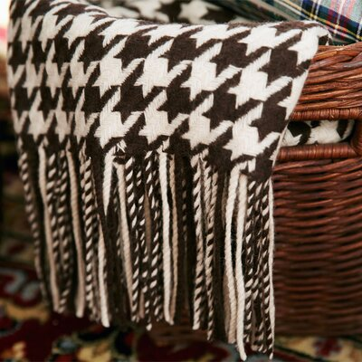 Pur Modern Lautner Houndstooth Cashmere/Wool Blend Throw