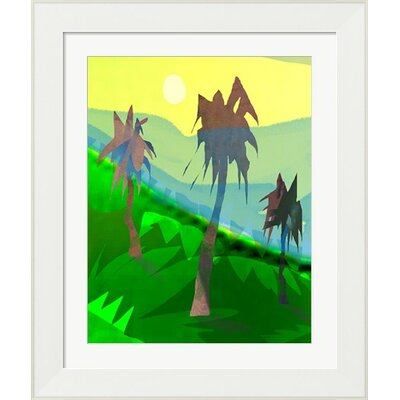 Palm Trees by Holly Mcgee Framed Painting Print