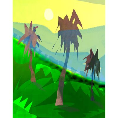 Palm Trees by Holly Mcgee Painting Print