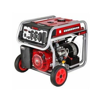 Electric Start 12,000 Watt Portable Gas Generator with Wheel Kit and Battery - SUA12000E