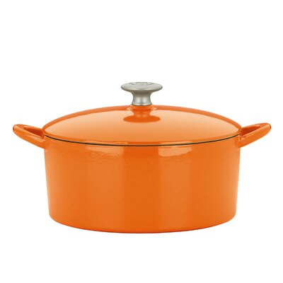 4-Qt. Cast Iron Round Dutch Oven with Lid