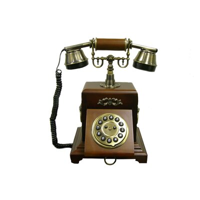 ORE Furniture Classic Telephone in Mahogany Vintage