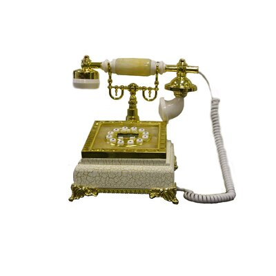ORE Furniture Classic Telephone in Ivory