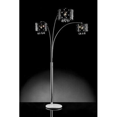 Ore star crystal 3 light arch floor lamp reviews wayfair for 3 light crystal floor lamp