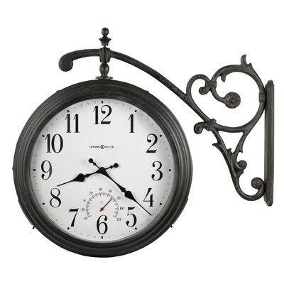 Howard Miller® Luis Indoor / Outdoor Quartz Wall Clock