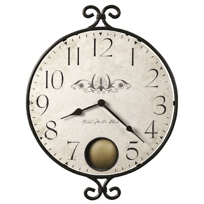 Howard Miller® Randall Wrought - Iron Quartz Wall Clock