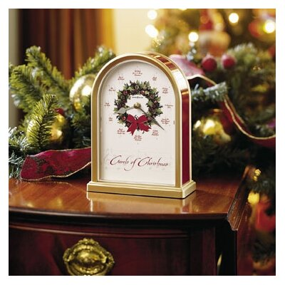 Carols of Christmas Holiday Table Clock