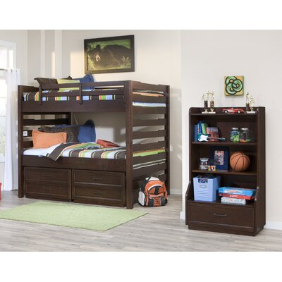 LC Kids Solutions Bookcase in Distressed Brown Cherry