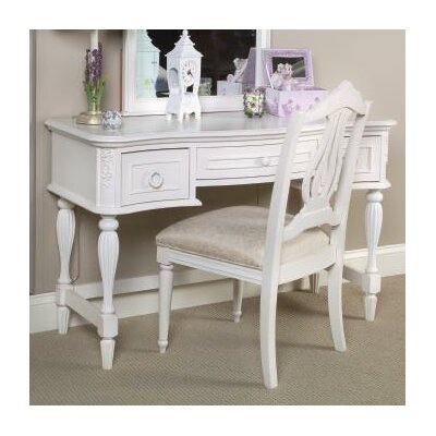 LC Kids Reflections Vanity and Mirror Set in Distressed Antique White