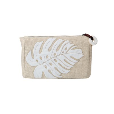 Blissliving Home Delano Embroidered Pouch in Natural
