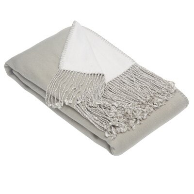 Blissliving Home Argo Reversible Throw in Ivory / Pebble