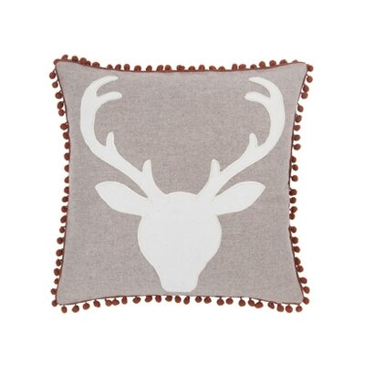 Blissliving Home Aspen Oh Deer Wool / Linen Pillow