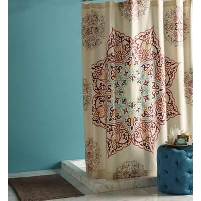 Blissliving Home Abu Dhabi Chanda Cotton Shower Curtain