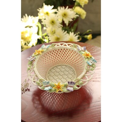 Belleek Butterfly Meadow Basket