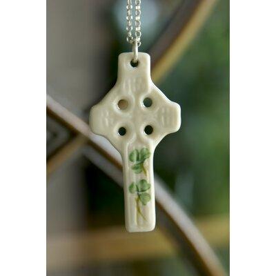 Shamrock Celtic Cross Pendant