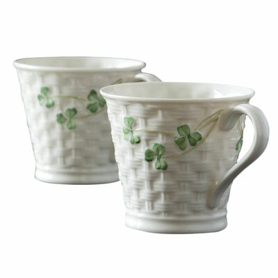 Belleek Shamrock Mug (Set of 2)