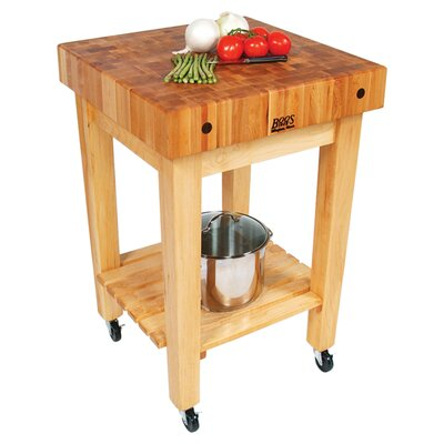 BoosBlock Gourmet Kitchen Cart with Butcher Block Top