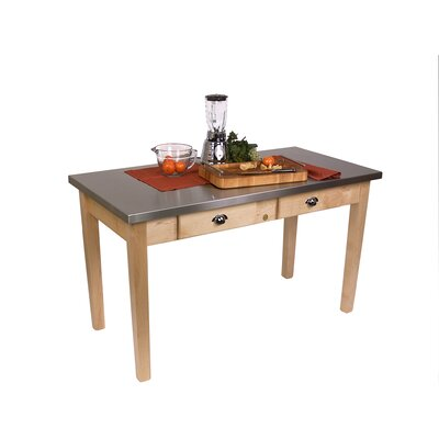 Cucina Americana Milano Prep Table with Stainless Steel Top