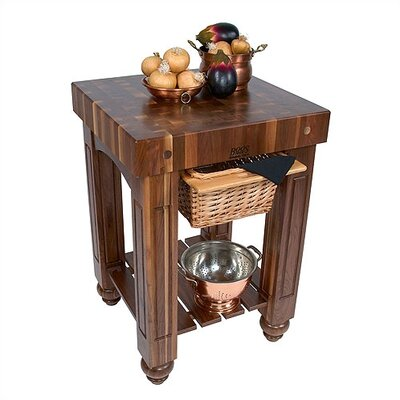 John Boos American Heritage Gathering Prep Table with Butcher Block Top