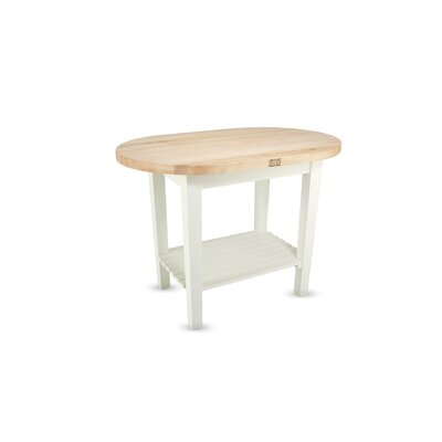 John Boos Eliptical C-Table Kitchen Island