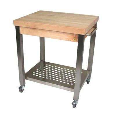 Butcher Block Kitchen Cart Canada : John Boos Cucina Americana Kitchen Cart with Wood Top & Reviews Wayfair