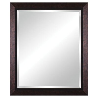 Vanity Beveled Mirror in Mottled Black Brown