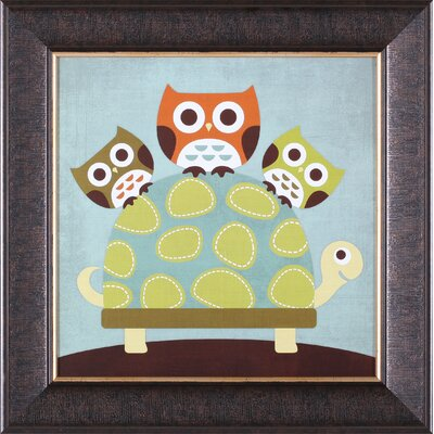 Art Effects ''Three Owls on Turtle'' Framed Art