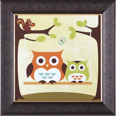 Art Effects ''Two Owls on Swing'' Wall Art