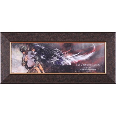 No Greater Love Soldier With Child Petite Wall Art