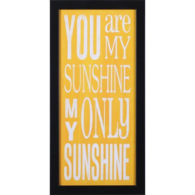 Art Effects You Are My Sunshine Wall Art