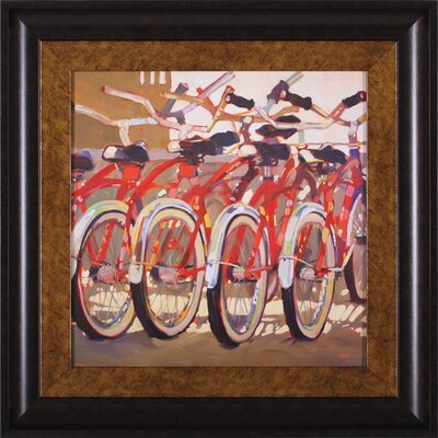 Retro Bikes and Suncruisers by Darrell Hill Framed Painting Print