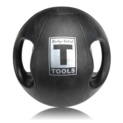 Body Solid 14 lbs Dual Grip Medicine Balls in Black