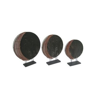 Vellavel Coco Round Table Lamp in Black (Set of 3)