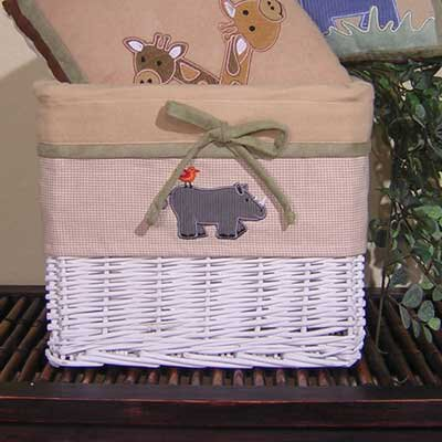 On Safari Wicker Basket