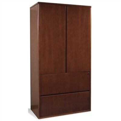 Sonoma Two Drawer Lateral File with Two Door Storage