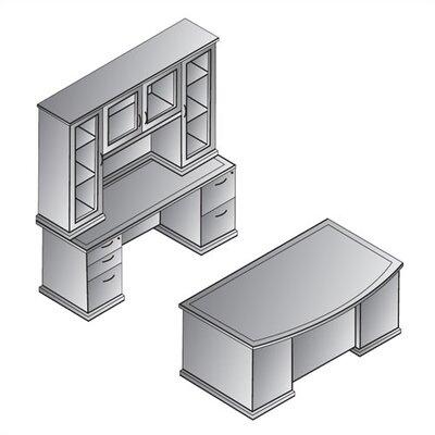 OSP Furniture Mendocino Executive Standard Desk Office Suite