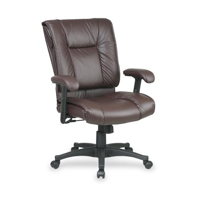 Mid Back Leather Managerial Chair