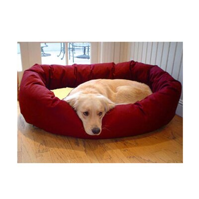 Majestic Pet Products Bagel Dog Bed in Burgundy and Sherpa